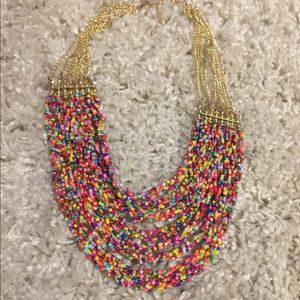 Jewelry - Colorful bead multi strand necklace